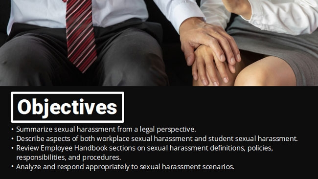 Sexual Harassment for Educators Preview 1