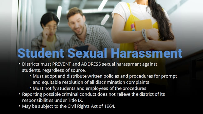 Sexual Harassment for Educators Preview 4