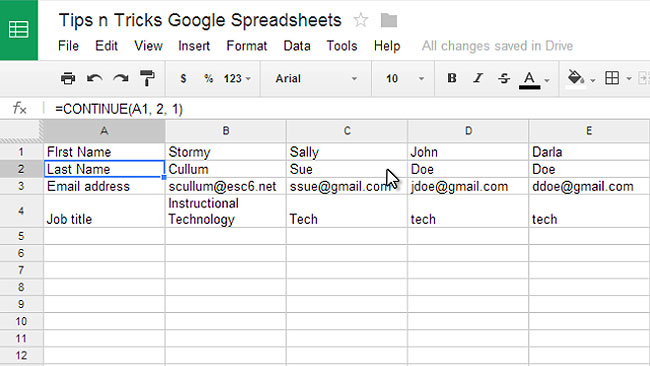 Tips & Tricks for Google Spreadsheets Preview 2
