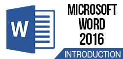 Microsoft Word 2016: Introduction